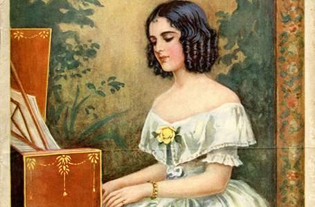 Girl playing paino
